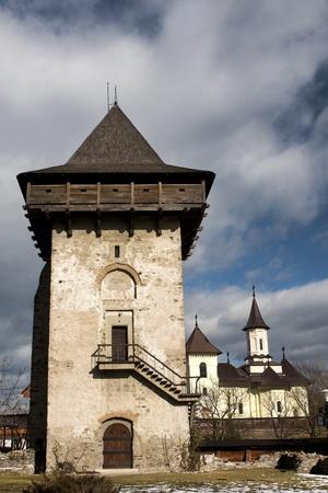 Gura humorului tower, Bucovina Romania Reklamní fotografie