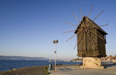 Nesebar windmill Reklamní fotografie