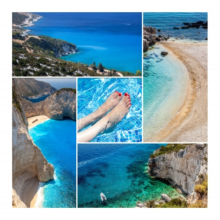 Amazing Zakynthos Island Collage, Greece photo
