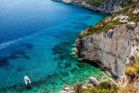 Stara Baska beach, Croatia Stock Photo