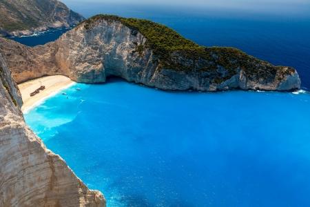 Amazing beach Navagio in Zakynthos, Greece photo
