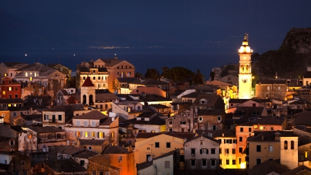 Corfu town, panoramic view photo