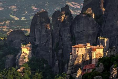 monasteri: Monastero Roussanou a monasteri di Meteora in regione Trikala, Grecia.