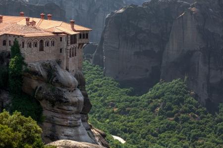 kalampaka: Orthodox Monastery Varlaam on the rock, near Kalampaka, Meteora, Fessalia, Greece