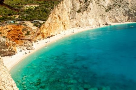 Porto Katsiki beach at Lefkada island, Greece photo
