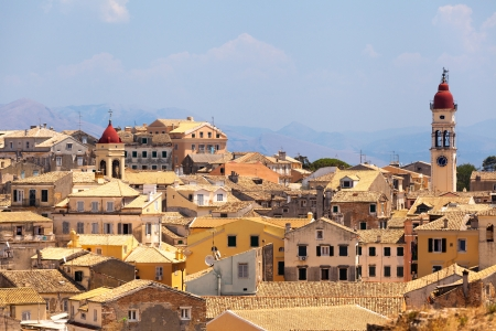 View from castle to Corfu-Town   Kerkyra in Greece photo
