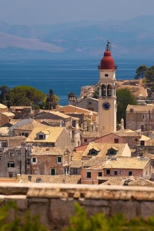 kerkyra: Church of Saint Spyridon of Trimythous, Corfu Town, Greece Stock Photo
