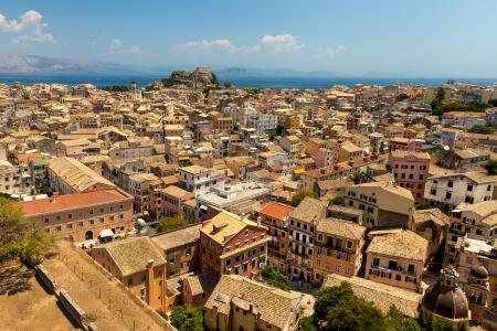 view of the Corfu town. Kerkyra, photo taken in Greece Reklamní fotografie