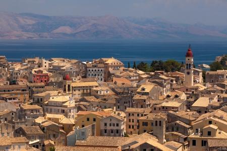 kerkyra: view of the Corfu town. Kerkyra, photo taken in Greece Stock Photo
