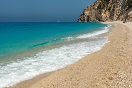 ionio: Egremni beach  Lefkada,Greece  Stock Photo