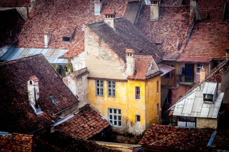 arial view: Sighisoara arial view