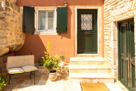 traditional house: Traditional house from Perithia old village, Corfu