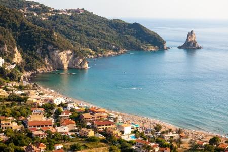 Agios Gordios exotic beach in Corfu island,Greece Reklamní fotografie