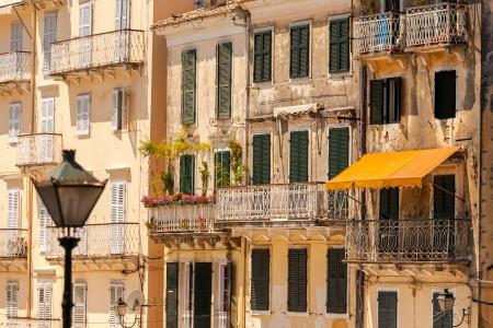 kerkyra: Specific old Corfu Town facades, Greece
