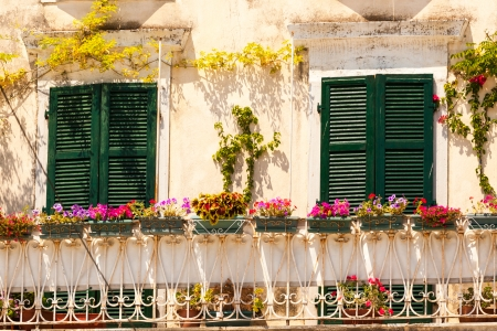 specific: Specific old Corfu Town facades, Greece