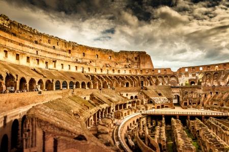 emporium: Inside of Colosseum in Rome, Italy Stock Photo