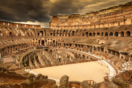 rome italy: Inside of Colosseum in Rome, Italy Stock Photo