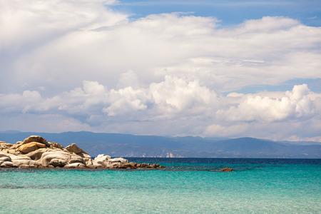 sithonia: Bellissimo panorama di spiaggia Karidi in Vourvourou, Sithonia, Grecia