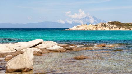sithonia: Spiaggia Karidi in vista Vourvourou di Athos, Sithonia, Grecia