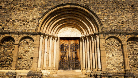 Saxon Church in Cisnadioara, Sibiu, Romania photo