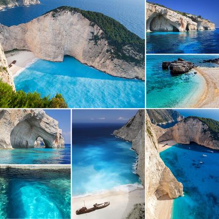 Photo collage from Greek island, Zakynthos