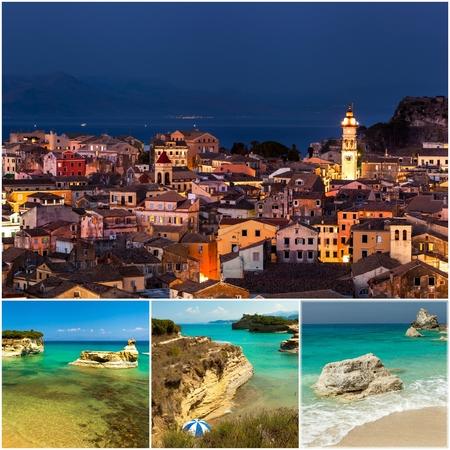 kerkyra: Corfu Town Collage, photos taken in Greece