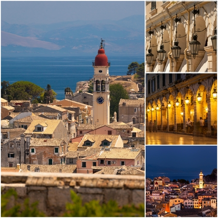 Corfu Town Collage, photos taken in Greece