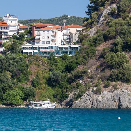 ionio: Parga Castle, view from Valtos Beach, Epirus, Greece
