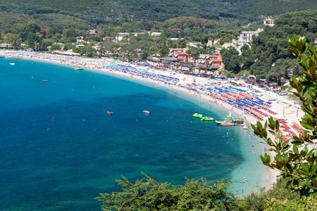 Beautiful Valtos beach near Parga town of Epirus area in Greece.