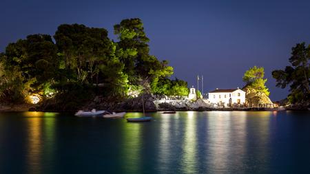 Panagia isle at Parga near Syvota in Greece. Ionian sea