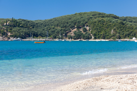 ionio: Beautiful Valtos beach near Parga town of Epirus area in Greece.