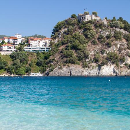 isles: Parga Castle, view from Valtos Beach, Epirus, Greece