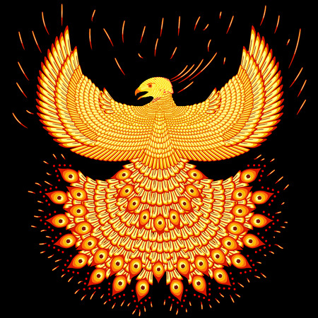 bird wing: Fiery phoenix Illustration