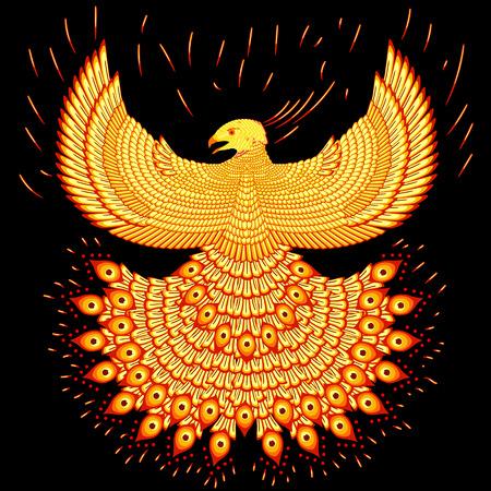 black bird: Fiery phoenix Illustration