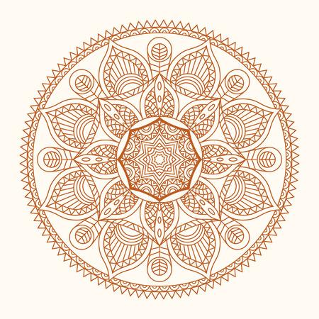 Mandala Colorful vector illustration of oriental. Decorative vintage pattern and geometric round ornament. Hand drawing motif of arabic, chinese, asian, islam, pakistan, indian, turkish, ottoman, yoga Illustration