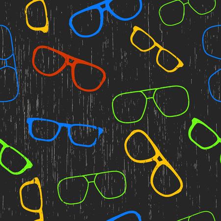 Background color grunge glasses. Seamless pattern Vector illustration