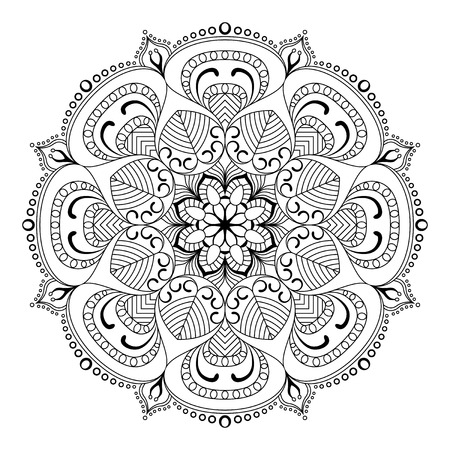 Mandala vector illustration of oriental. Decorative vintage pattern and geometric round ornament.