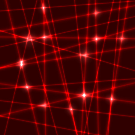 Abstract background of the red laser rays. Illustration