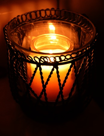 candle holder: Candle light