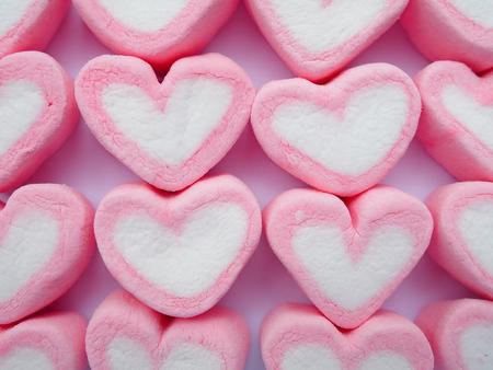 forme: coeur rose forme de guimauve Banque d'images