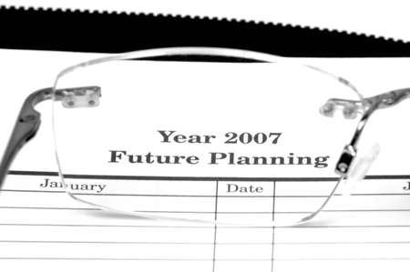 Year 2007 Future Planning Conceptual Stock Photo - 624423