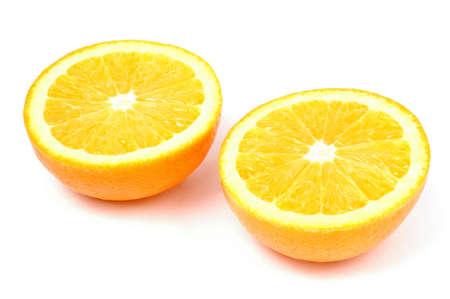Photo of sliced orange isolated on white background Stock Photo