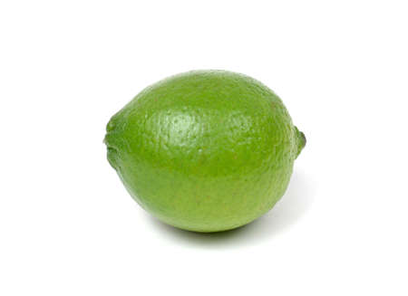 Lime Isolated on White Standard-Bild