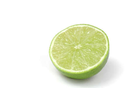 Lime Half Isolated on White