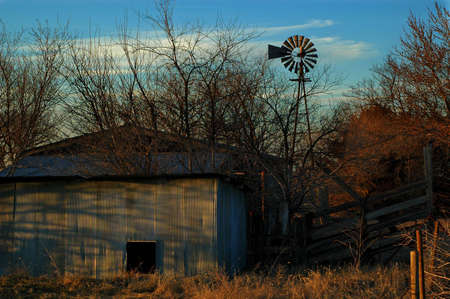 Abandoned Sheep Shed on an Old Farm in the Midwest USA