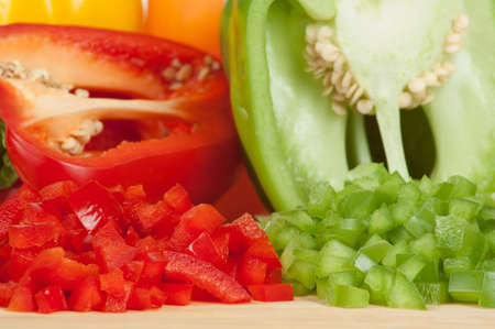 Sliced and Chopped or Diced Bell Peppers