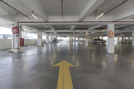 Big Parking Area In Basement Stock Photo