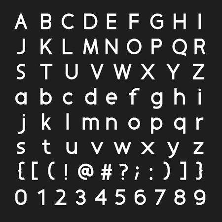 consonant: Font and number vector design