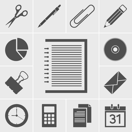 o'clock: Business and office icon Illustration