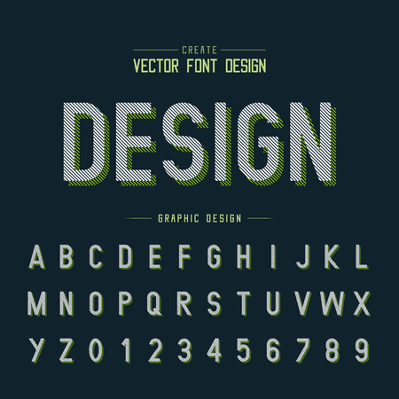 font and alphabetical vector on background, letter and text graphic art design. Illustration